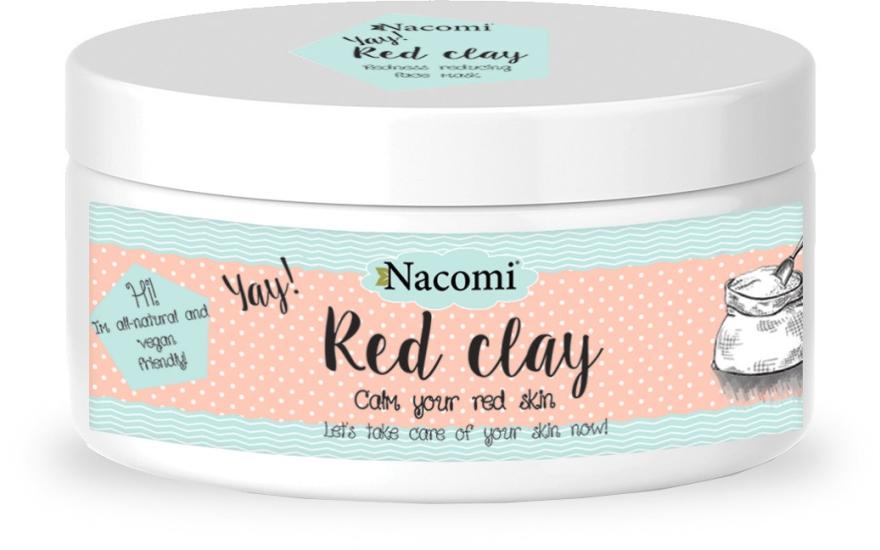 Reinigungsmaske für empfindliche und normale Haut - Nacomi Red Clay — Bild N1