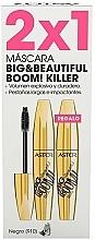 Düfte, Parfümerie und Kosmetik Astor Big Beautiful Boom Volume Black - Make-up Set (Mascara 2x12ml)