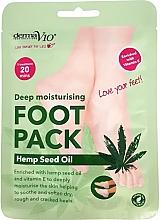 Düfte, Parfümerie und Kosmetik Tief feuchtigkeitsspendende Fußmaske in Socken mit Hanfsamenöl und Vitamin E - Derma V10 Deep Moisturising Foot Pack Hemp Seed Oil