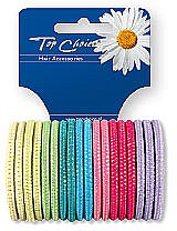 Düfte, Parfümerie und Kosmetik Haargummis Farb-Mix 18 St. 22180 - Top Choice
