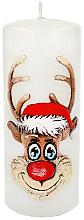 Düfte, Parfümerie und Kosmetik Dekorative Kerze Rudolf weiß 7x18 cm - Artman Christmas Candle Rudolf