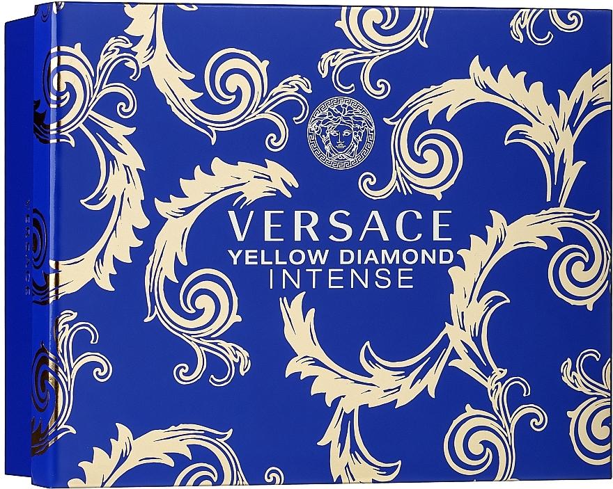 Versace Yellow Diamond Intense - Duftset (Eau de Parfum/50ml + Körperlotion/50ml + Duschgel/50ml)