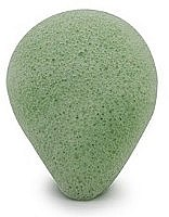 Düfte, Parfümerie und Kosmetik Konjac-Schwamm für das Gesicht mit grünem Tee in Tropfenform - Bebevisa Konjac Sponge