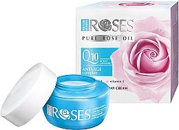 Düfte, Parfümerie und Kosmetik Anti-Falten-Tagescreme für das Gesicht mit Vitamin E - Nature of Agiva Roses Pure Rose Oil Anti-Age Complex Q10 Anti-Wrinkle Day Cream