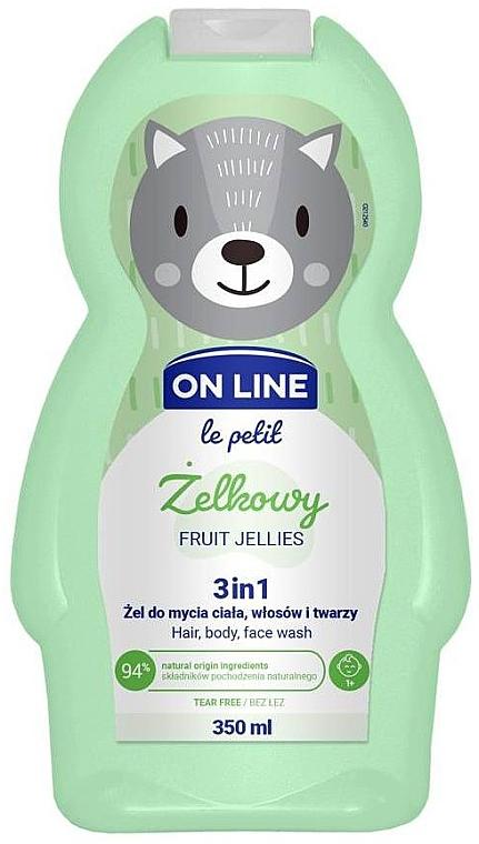 3in1 Duschgel für Körper, Gesicht und Haar mit Fruchtgelee-Duft - On Line Le Petit Fruit Jellies 3 In 1 Hair Body Face Wash