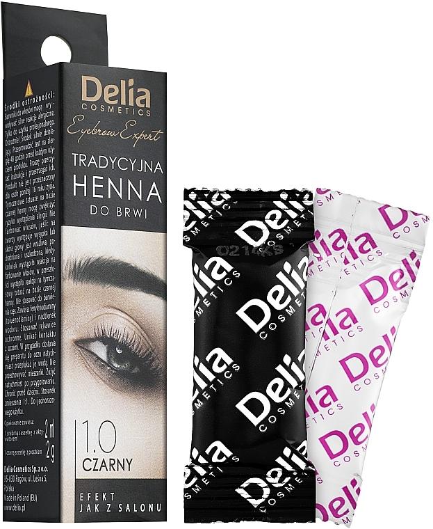 Henna für Augenbrauen schwarz - Delia Brow Dye Henna Traditional Black