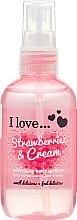 Düfte, Parfümerie und Kosmetik Erfrischendes Körperspray mit Erdbeere - I Love... Strawberries & Cream Body Spritzer