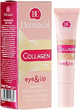 Düfte, Parfümerie und Kosmetik Intensiv verjüngende Augen- und Lippenkonturcreme - Dermacol Collagen+ Eye & Lip Cream