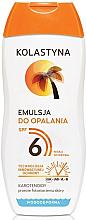 Düfte, Parfümerie und Kosmetik Wasserdichte Sonnenschutzcreme LSF 6 - Kolastyna Suncare Emulsion SPF 6