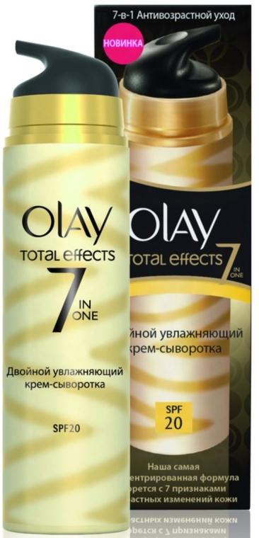 Doppelt feuchtigkeitsspendendes Creme-Serum für das Gesicht SPF 20 - Olay Total Effects 7 In One Moisturizer + Serum Duo SPF 20 — Bild N1