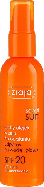 Trockenes Sonnenschutzöl-Gel für den Körper SPF 20 - Ziaja Sopot Sun SPF 20 — Bild N1