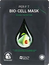 Düfte, Parfümerie und Kosmetik Biocellulose-Tuchmaske mit Avocadoöl-Extrakt - SNP Double Nutrition Bio-Cell Mask
