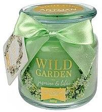 Düfte, Parfümerie und Kosmetik Duftkerze im Glas Wilder Garten mit Jasmin und Flieder 10x11 cm 360 g - Artman Wild Garden Jasmin & Lilac