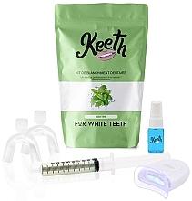 Düfte, Parfümerie und Kosmetik Aufhellendes Zahnpflegeset mit Minzgeschmack - Keeth Mint Teeth Whitening Kit