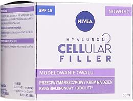 Düfte, Parfümerie und Kosmetik Straffende Anti-Aging Tagescreme SPF 15 - Nivea Hyaluron Cellular Filler Day Cream SPF15