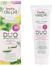 Düfte, Parfümerie und Kosmetik Enthaarungscreme mit Minze und grünem Tee - Byly DUO Double Action Mint & Green Tea