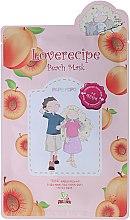 Düfte, Parfümerie und Kosmetik Cellulose-Tuchmaske mit Pfirsichextrakt - Sally's Box Loverecipe Peach Mask