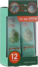 Düfte, Parfümerie und Kosmetik 2in1 Tonerdemaske und Reinigungsschaum - Holika Holika Pure Essence Mugwort Bubble Cleansing Pack