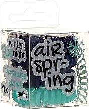 Düfte, Parfümerie und Kosmetik Haargummis dunkelblau, türkis 4 St. - Hair Springs