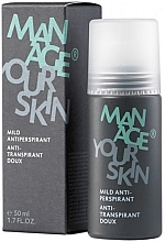 Düfte, Parfümerie und Kosmetik Deospray Antitranspirant für Männer - Dr. Spiller Manage Your Skin Mild Antiperspirant
