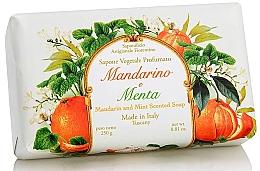Düfte, Parfümerie und Kosmetik Naturseife Mandarin und Minze - Saponificio Artigianale Fiorentino Tangerine & Mint Soap