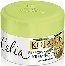 Düfte, Parfümerie und Kosmetik Anti-Falten Gesichtscreme mit Kollagen und Olive für normale und trockene Haut - Celia Collagen Cream