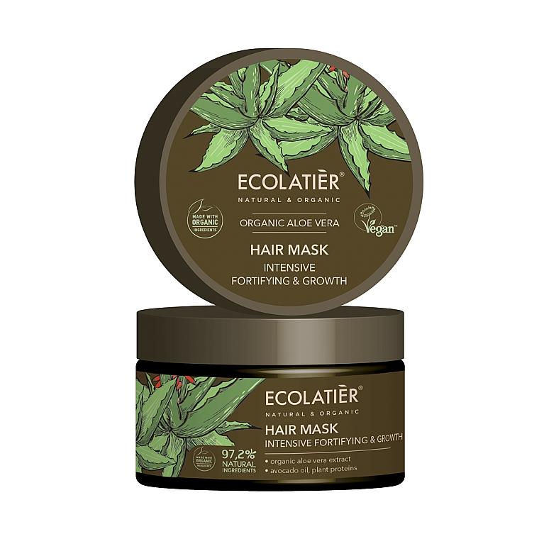 Intensiv stärkende Haarmaske zum Haarwachstum mit Aloe Vera - Ecolatier Organic Aloe Vera Hair Mask