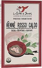 Düfte, Parfümerie und Kosmetik Henna-Pulver für warme tiefrote Haarfarbe - Le Erbe di Janas Red Henna Hot Shades