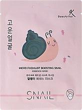 Düfte, Parfümerie und Kosmetik Regenerierende und feuchtigkeitsspendende Tuchmaske mit Schneckenschleim - Beauty Kei Micro Facialist Boosting Snail Essence Mask