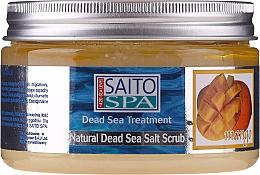 Düfte, Parfümerie und Kosmetik Salzpeeling für den Körper mit Salz aus dem Toten Meer und Mangoduft - Saito Spa Mango Dead Sea Salt Body Scrub