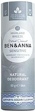 Düfte, Parfümerie und Kosmetik Deospray Highland Breeze - Ben&Anna Natural Deodorant Sensitive Highland Breeze (Kartonbox)