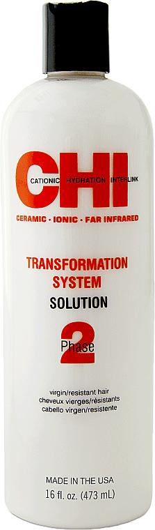 Zwei-Phasen-System für eine dauerhafte und glänzende Haarglättung für naturbelassenes Haar Phase 2 Formel A - CHI Transformation Bonder Formula A — Bild N1