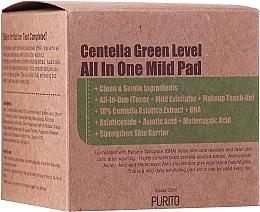 Düfte, Parfümerie und Kosmetik Feuchtigkeitsspendende und reinigende Tonerpads für das Gesicht mit Centella Asiatica, Panthenol und Salicylsäure - Purito Centella Green Level All In One Mild Pad