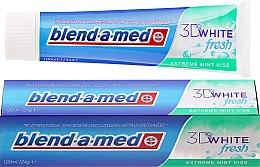 Düfte, Parfümerie und Kosmetik Zahnpasta 3D White Fresh Extreme Mint Kiss - Blend-a-med 3D White Fresh Extreme Mint Kiss Toothpaste