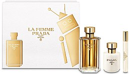 Düfte, Parfümerie und Kosmetik Prada La Femme Prada - Duftset (Eau de Parfum 100ml + Körperlotion 100ml + Mini 10ml)