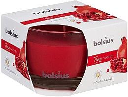 Düfte, Parfümerie und Kosmetik Duftkerze im Glas Granatapfel - Bolsius True Scents Candle 63 mm x Ø90 mm