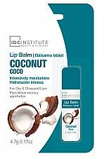 Düfte, Parfümerie und Kosmetik Intensiv feuchtigkeitsspendender Lippenbalsam mit Kokosnussgeschmack - IDC Institute Lip Balm Coconut