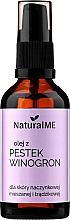 Düfte, Parfümerie und Kosmetik Natürliches Traubenkernöl für gemischte, Kapillar- und Aknehaut - NaturalME (mit Pumpenspender)