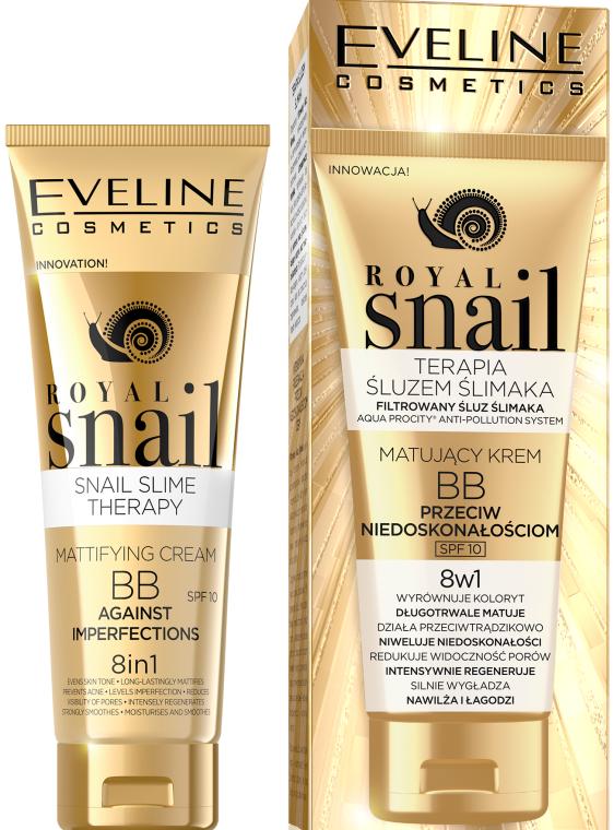 8in1 Multifunktionale BB Creme mit Schneckenschleim LSF 10 - Eveline Cosmetics Royal Snail BB Cream 8in1