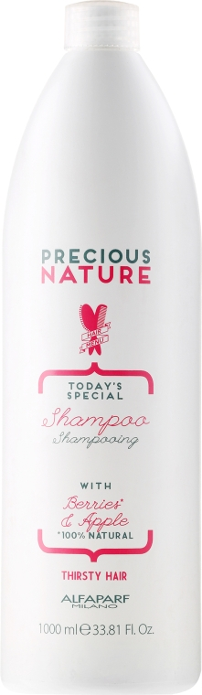 Revitalisierendes Shampoo für stark strukturgeschädigtes und brüchiges Haar - Alfaparf Precious Nature Shampoo Fry and Thirsty Hair