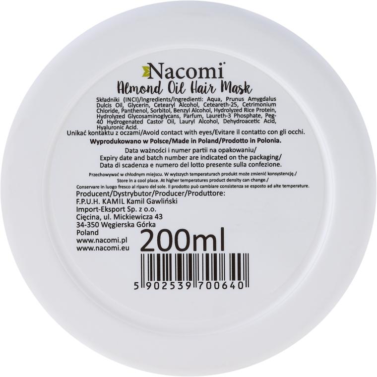 Haarmaske - Nacomi Almond Oil Hair Mask — Bild N2