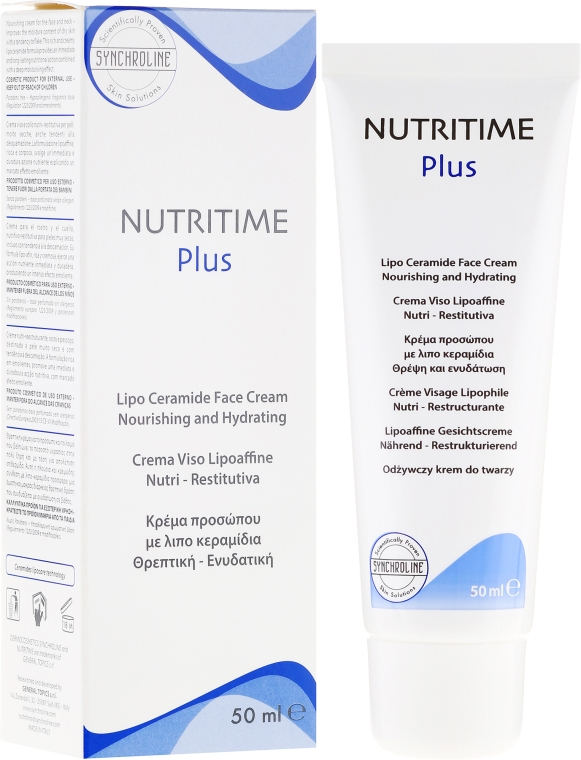 Feuchtigkeitsspendende Gesichtscreme - Synchroline Nutritime Face Cream