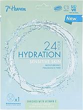 Düfte, Parfümerie und Kosmetik Feuchtigkeitsspendende Tuchmaske für empfindliche Gesichtshaut - 7th Heaven 24H Hydration Sensitive Skin Sheet Mask