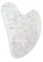 Düfte, Parfümerie und Kosmetik Massagestein für Gesicht und Hals aus weißem Quarz - Deni Carte Gua Sha