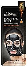 Düfte, Parfümerie und Kosmetik Porenreinigende Detox Peel-Off Gesichtsmaske mit schwarzem Ton und Hamamelis - 7th Heaven Renew You Blackhead Detox Peel Off Mask