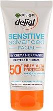 Düfte, Parfümerie und Kosmetik Feuchtigkeitsspendende Sonnenschutzcreme für das Gesicht SPF 50+ - Garnier Delial Ambre Solaire Sensitive Advanced Face Cream SPF50+
