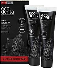 Düfte, Parfümerie und Kosmetik Schwarze aufhellende fluoridfreie Zahnpasta - Ecodenta Black Whitening Toothpaste Set