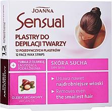 Düfte, Parfümerie und Kosmetik Enthaarungswachsstreifen für das Gesicht mit Arganöl - Joanna Sensual Depilatory Face Strips