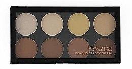 Düfte, Parfümerie und Kosmetik Konturpalette mit 8 Farben - Makeup Revolution Iconic Lights & Contour Pro