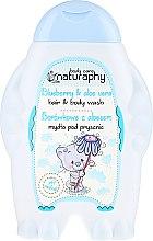 Düfte, Parfümerie und Kosmetik 2in1 Shampoo und Duschgel für Kinder Blaubeerduft und Aloe Vera-Extrakt - Bluxcosmetics Naturaphy Hair & Body Wash